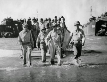 MacArther Comes Ashore at Leyte