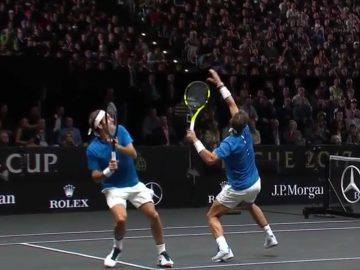 Federer and Nadal Go For a Shot